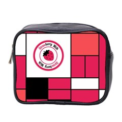 Brand Strawberry Piet Mondrian Pink Twin Sided Cosmetic Case by strawberrymilk