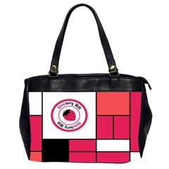 Brand Strawberry Piet Mondrian Pink Twin Sided Oversized Handbag by strawberrymilk