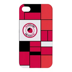 Brand Strawberry Piet Mondrian Pink Apple Iphone 4/4s Hardshell Case by strawberrymilk