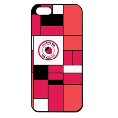 Brand Strawberry Piet Mondrian Pink Apple Iphone 5 Seamless Case (black) by strawberrymilk
