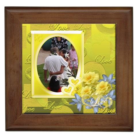 Tim3 Framed Tile Yellow By Ellan   Framed Tile   9719auxxc35k   Www Artscow Com Front