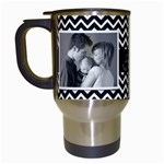 Chevron Travel Mug - Travel Mug (White)