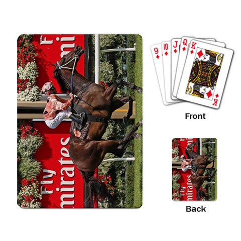 Black Caviar By Del Griffith   Playing Cards Single Design   T503r86jqxtp   Www Artscow Com Back