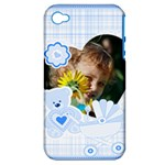 kids, fun, child, play, happy - Apple iPhone 4/4S Hardshell Case (PC+Silicone)