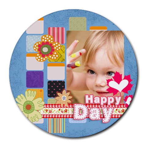 Kids, Fun, Child, Play, Happy By Jacob   Round Mousepad   6fg97b1ioo7g   Www Artscow Com Front