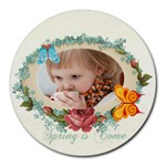 kids, fun, child, play, happy - Round Mousepad