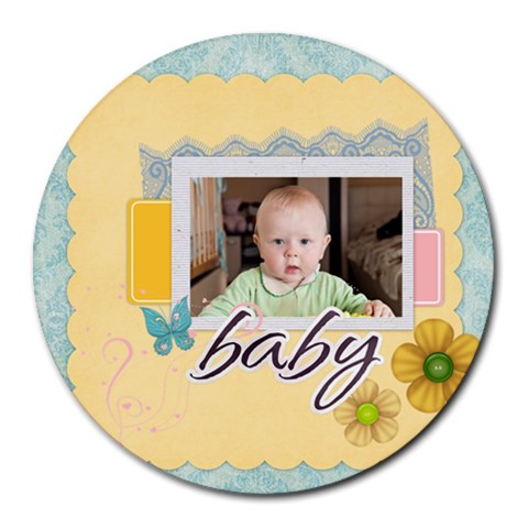 Baby, Love, Kids, Memory, Happy, Fun  By Jacob   Round Mousepad   60187ek65t08   Www Artscow Com Front