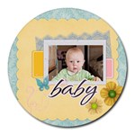 baby, love, kids, memory, happy, fun  - Round Mousepad