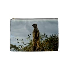 Meerkat, Cosmetic Bag (Medium) by TimeBomb