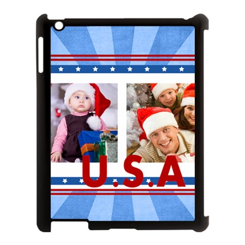 Usa By Mac Book   Apple Ipad 3/4 Case (black)   Wa01ipzcxtjk   Www Artscow Com Front