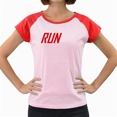 Run Colored Cap Sleeve Raglan Womens T Shirt   Double Sided Print by S4successtees