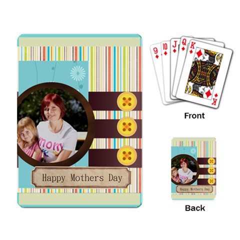 Mothers Day By Jacob   Playing Cards Single Design   Ybjgsz17ep2m   Www Artscow Com Back