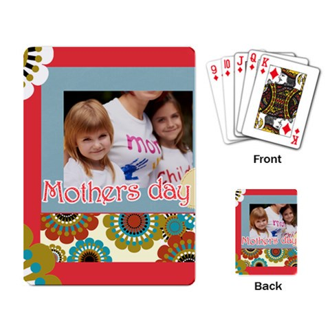 Mothers Day By Jacob   Playing Cards Single Design   1sahx952kywa   Www Artscow Com Back