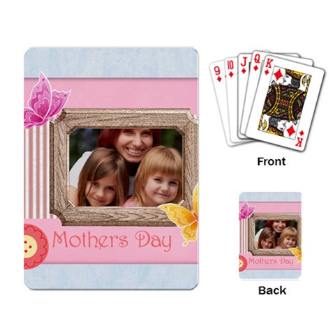 Mothers Day By Jacob   Playing Cards Single Design   6b0y82kr9uwh   Www Artscow Com Back