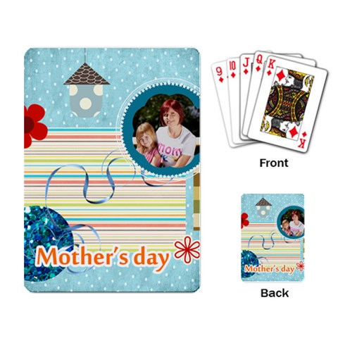 Mothers Day By Jacob   Playing Cards Single Design   7nf1zxxy9sny   Www Artscow Com Back