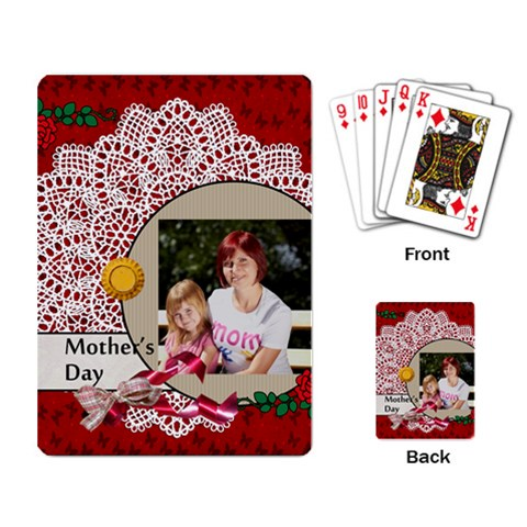 Mothers Day By Jacob   Playing Cards Single Design   076g90am5k4h   Www Artscow Com Back