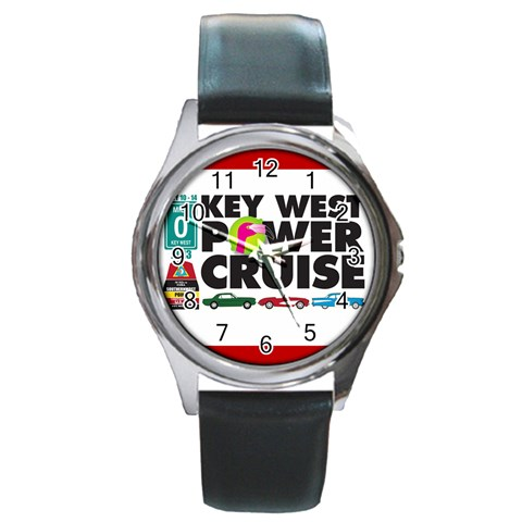 Car Watch 2 By Joy Johns   Round Metal Watch   9a6tn9n18pla   Www Artscow Com Front