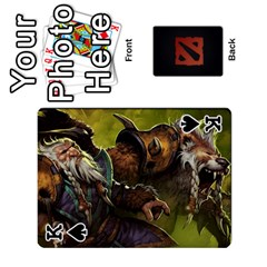 King Dota Cards By Tom   Playing Cards 54 Designs   Dtf7c0mw8fgw   Www Artscow Com Front - SpadeK