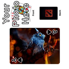 Ace Dota Cards By Tom   Playing Cards 54 Designs   Dtf7c0mw8fgw   Www Artscow Com Front - SpadeA
