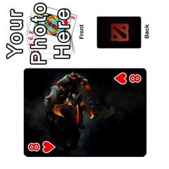 Dota Cards By Tom   Playing Cards 54 Designs   Dtf7c0mw8fgw   Www Artscow Com Front - Heart8