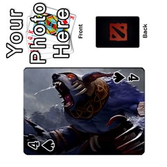 Dota Cards By Tom   Playing Cards 54 Designs   Dtf7c0mw8fgw   Www Artscow Com Front - Spade4