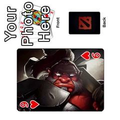 Dota Cards By Tom   Playing Cards 54 Designs   Dtf7c0mw8fgw   Www Artscow Com Front - Heart9