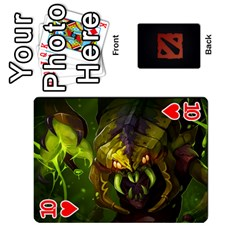 Dota Cards By Tom   Playing Cards 54 Designs   Dtf7c0mw8fgw   Www Artscow Com Front - Heart10