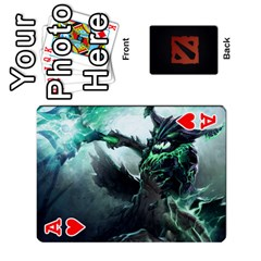 Ace Dota Cards By Tom   Playing Cards 54 Designs   Dtf7c0mw8fgw   Www Artscow Com Front - HeartA