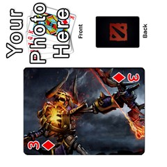 Dota Cards By Tom   Playing Cards 54 Designs   Dtf7c0mw8fgw   Www Artscow Com Front - Diamond3