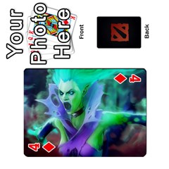 Dota Cards By Tom   Playing Cards 54 Designs   Dtf7c0mw8fgw   Www Artscow Com Front - Diamond4