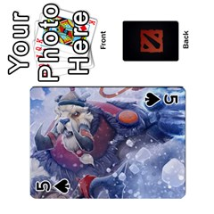 Dota Cards By Tom   Playing Cards 54 Designs   Dtf7c0mw8fgw   Www Artscow Com Front - Spade5