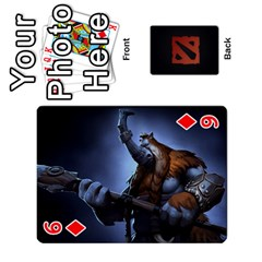 Dota Cards By Tom   Playing Cards 54 Designs   Dtf7c0mw8fgw   Www Artscow Com Front - Diamond6