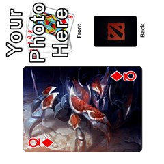 Queen Dota Cards By Tom   Playing Cards 54 Designs   Dtf7c0mw8fgw   Www Artscow Com Front - DiamondQ