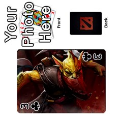 Dota Cards By Tom   Playing Cards 54 Designs   Dtf7c0mw8fgw   Www Artscow Com Front - Club3