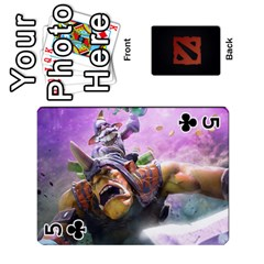 Dota Cards By Tom   Playing Cards 54 Designs   Dtf7c0mw8fgw   Www Artscow Com Front - Club5
