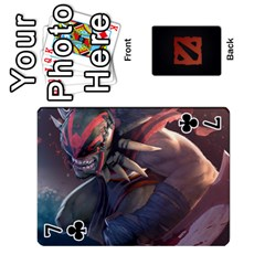 Dota Cards By Tom   Playing Cards 54 Designs   Dtf7c0mw8fgw   Www Artscow Com Front - Club7