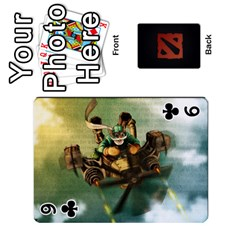 Dota Cards By Tom   Playing Cards 54 Designs   Dtf7c0mw8fgw   Www Artscow Com Front - Club9