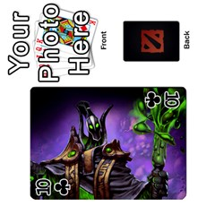 Dota Cards By Tom   Playing Cards 54 Designs   Dtf7c0mw8fgw   Www Artscow Com Front - Club10