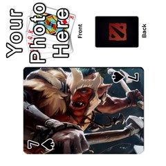 Dota Cards By Tom   Playing Cards 54 Designs   Dtf7c0mw8fgw   Www Artscow Com Front - Spade7