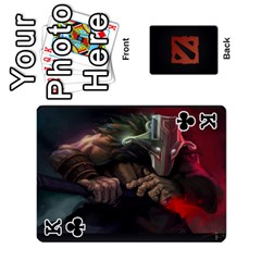 King Dota Cards By Tom   Playing Cards 54 Designs   Dtf7c0mw8fgw   Www Artscow Com Front - ClubK