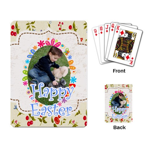 Easter By Easter   Playing Cards Single Design   B1d44aufgu1u   Www Artscow Com Back