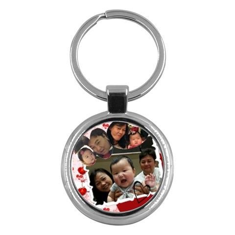 Kc For Luk Gu Por By Ip Tsui Yee   Key Chain (round)   Qazhddl1pkil   Www Artscow Com Front