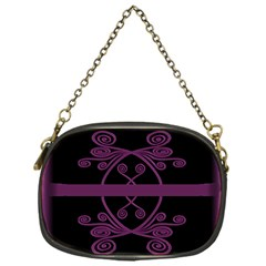 Ornamental Pink & Black Single Sided Evening Purse by displaydezign