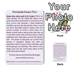 Fraximals With Decimals St 2 Pt 2 By Sarah   Multi Purpose Cards (rectangle)   Llhnwp7ogxr9   Www Artscow Com Back 51