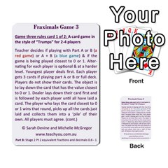 Fraximals With Decimals St 2 Pt 2 By Sarah   Multi Purpose Cards (rectangle)   Llhnwp7ogxr9   Www Artscow Com Back 52