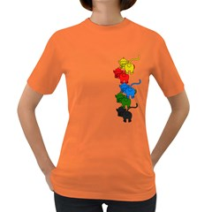 Scornful Jenga Women s Dark T Shirt