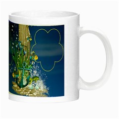 Blue Sea Luminous Mug By Elena Petrova   Night Luminous Mug   P1bzgnd3wn70   Www Artscow Com Right