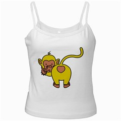 What Are You Looking At? White Spaghetti Tank by funkymonkey