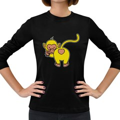 What Are You Looking At? Women s Long Sleeve Dark T Shirt by funkymonkey
