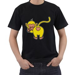 What Are You Looking At? Black T Shirt by funkymonkey
